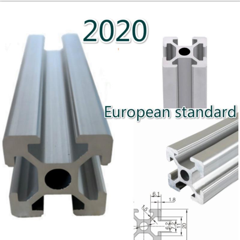 100-1000mm 2020 perfil de aluminio estándar europeo anodizado guía lineal para DIY CNC Tabla de impresora 3d