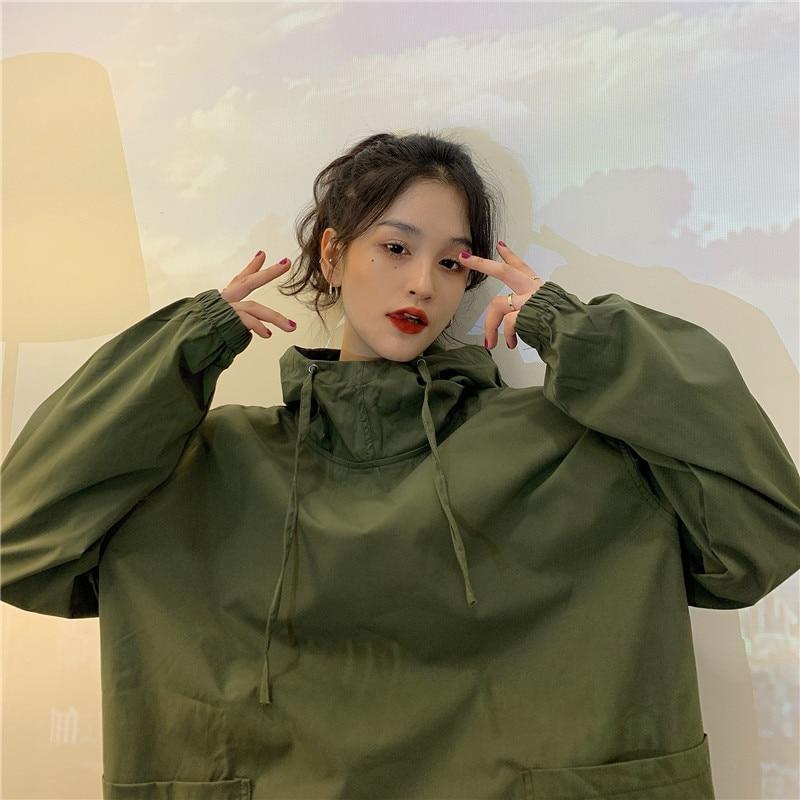 New Punk Hoodies Sweatshirts Women Oversize Sweatshirt Hood Solid Women Sweatshirt Plus Size Gothic Designer Sweatshirt 2021 нож buck hood punk микарта
