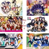 love live comic coated paper poster bar cafe high quality printing drawing core childrens decorative paintings
