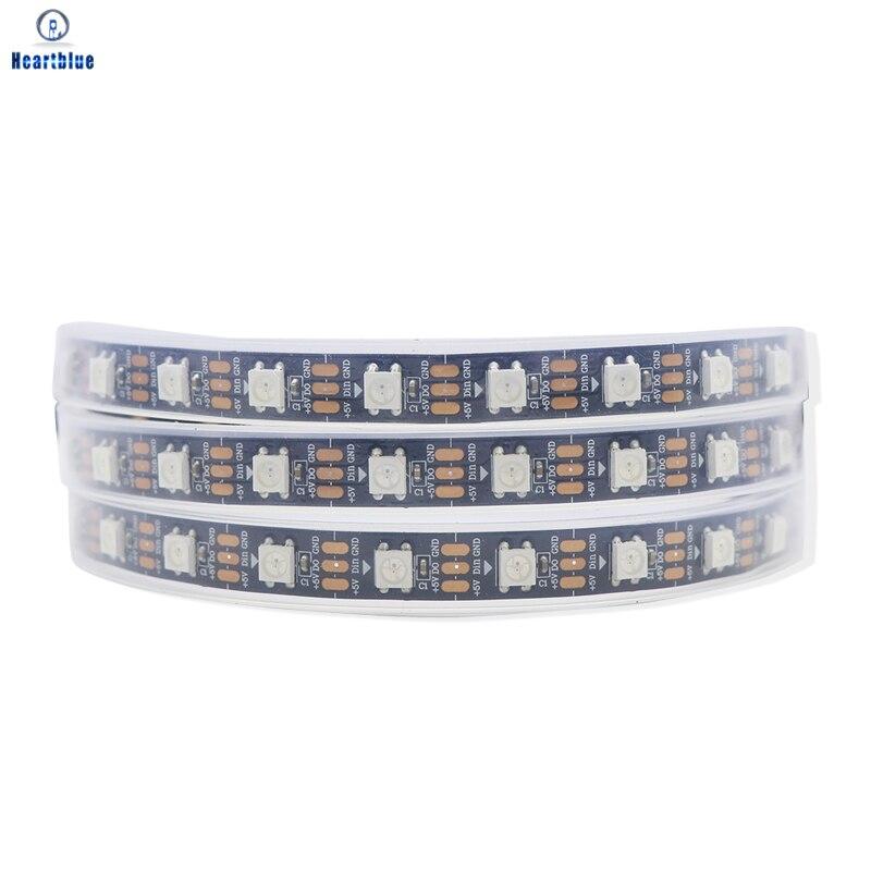 Светодиодная лента Ws2812b с белым светом, полноцветная мягкая LED лампа с индивидуальным управлением черным/белым светом, водонепроницаемая ПП...