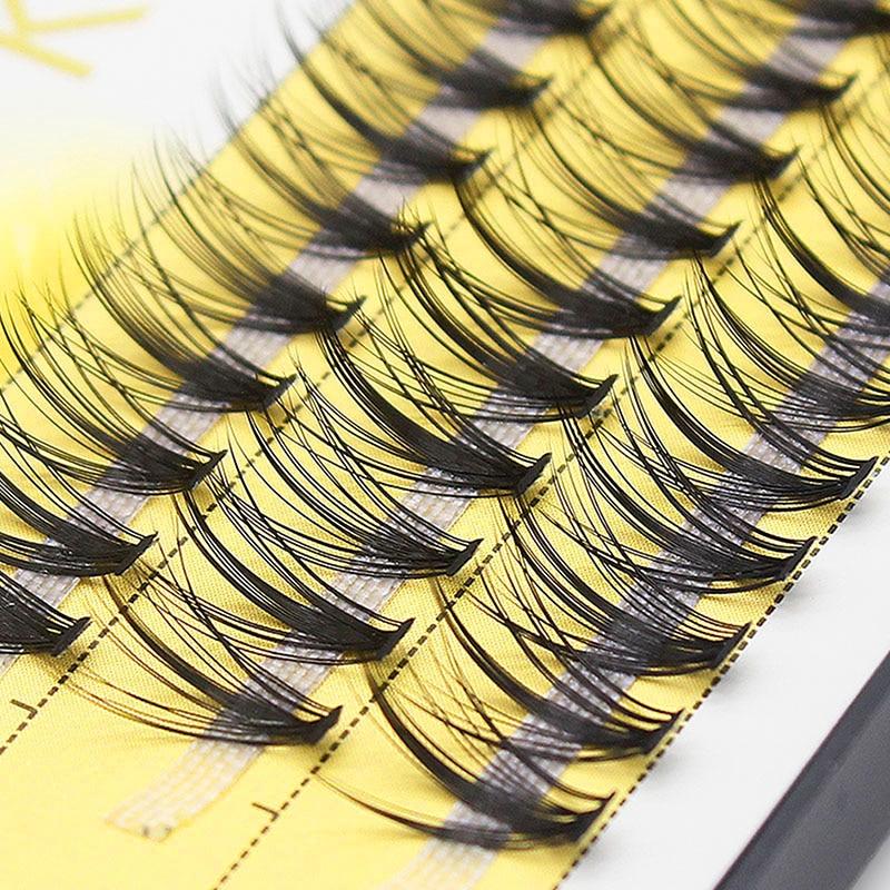 Искусственные ресницы для наращивания Kimcci, натуралистичные 3D ресницы для наращивания, 60 прядей, русский объем, ресницы в пучках, 20D, кластерные ресницы для макияжа