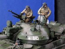 1/35 modern russian modern crew include 3 (NO TANK )   Resin figure Model kits Miniature gk Unassembly Unpainted