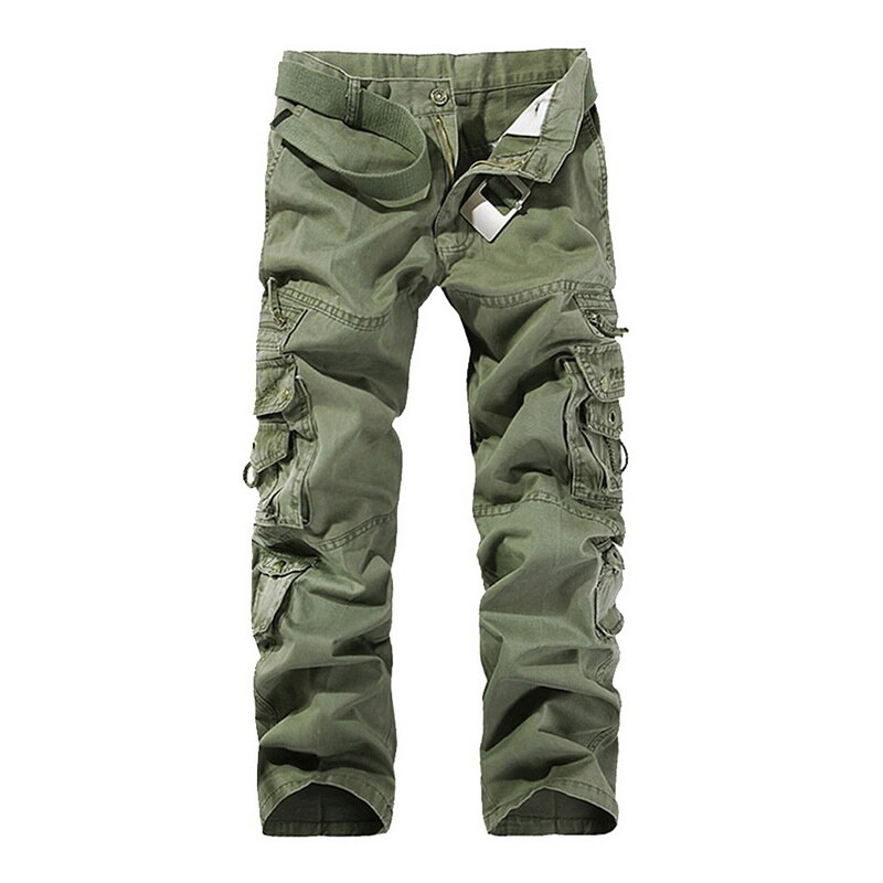 2019 pantalones de carga para hombres de alta calidad Casual sueltos Multi bolsillo militar pantalones largos para hombres Camo Joggers de talla grande