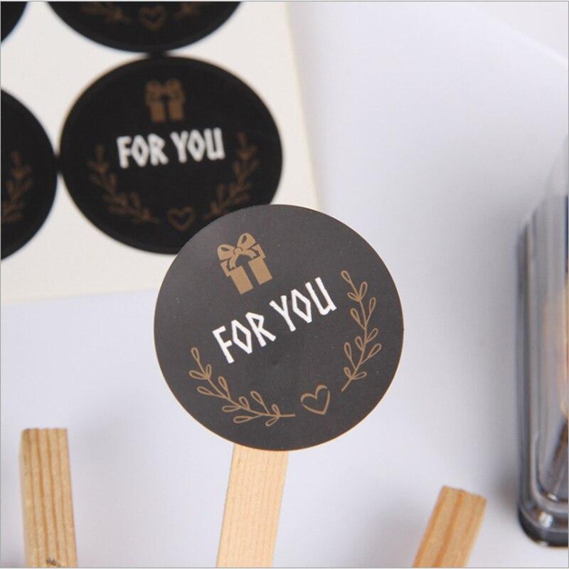 120-unids-lote-lindo-para-usted-etiqueta-engomada-negro-etiqueta-engomada-multifuncion-diy-decorativo-regalos-de-las-etiquetas-del-paquete-para-hornear