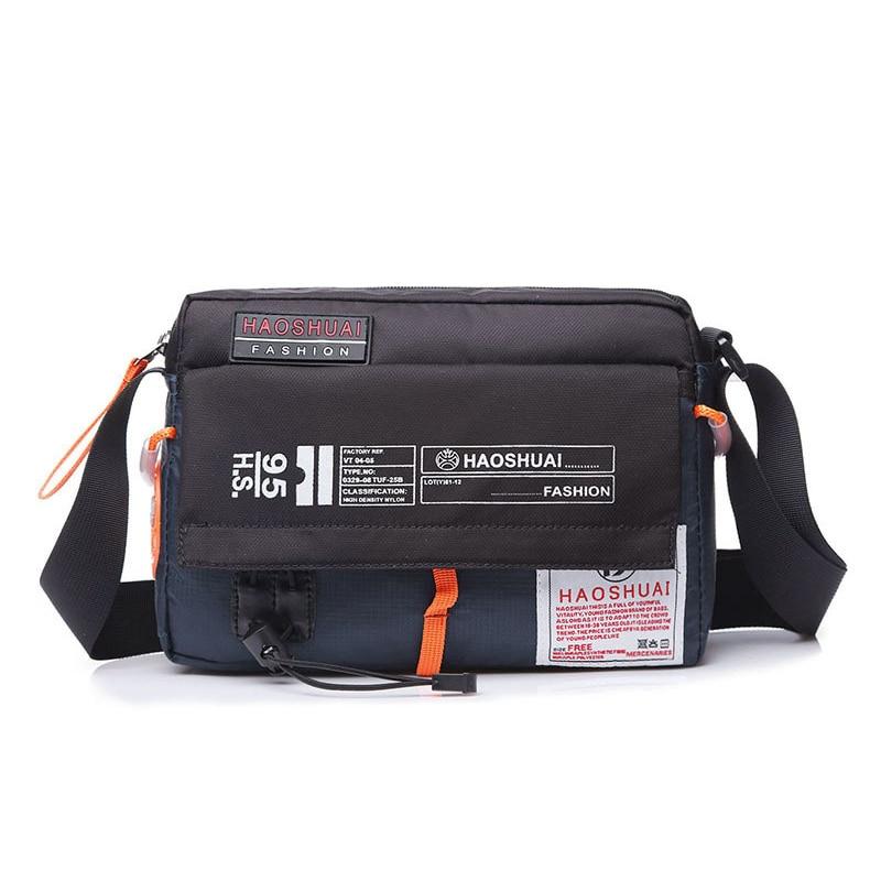 Men Bag Single Shoulder Bag Male Waterproof Anti-scratches Nylon Satchel Over the Messenger Crossbody Bags Handbag Mini Briefcas