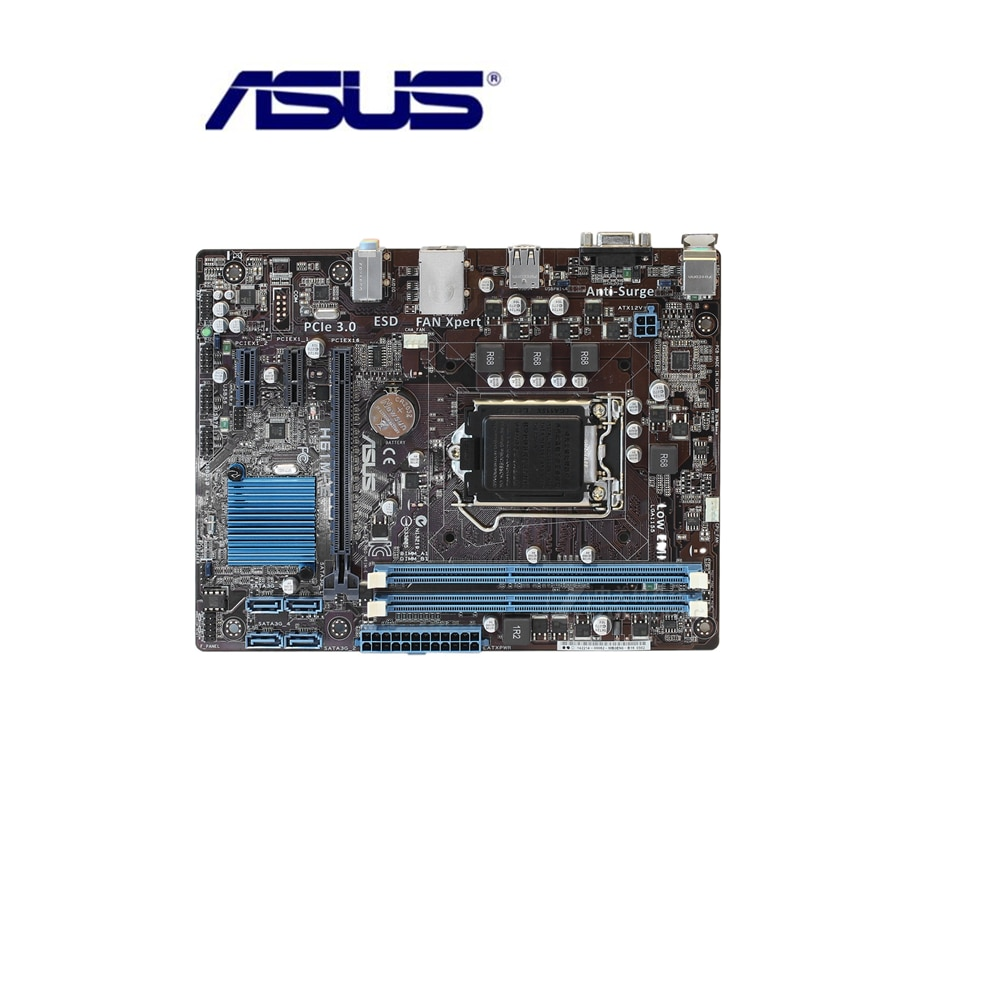 Placa base Asus H61M-E H61 Socket LGA 1155 i3 i5 i7 DDR3 16G uATX UEFI BIOS placa base Original usada DVI en venta