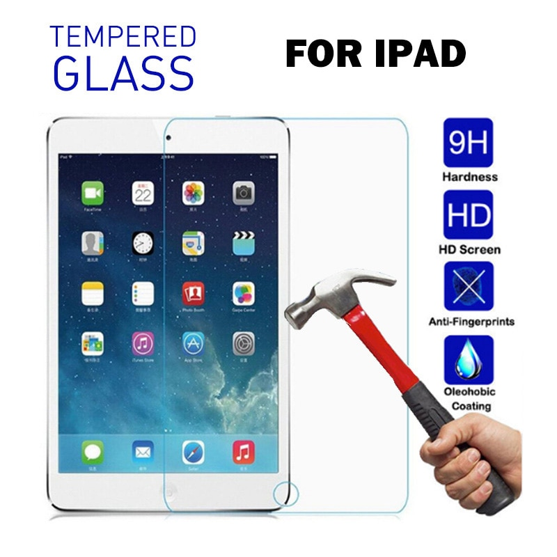 Für IPad 2 3 4 5 6. 9,7 2017 2018 Pro 11 2020 Gehärtetem Glas für IPad Air 3 10,5 10,2 2019 Mini 2 3 4 5 Screen Protector Flim