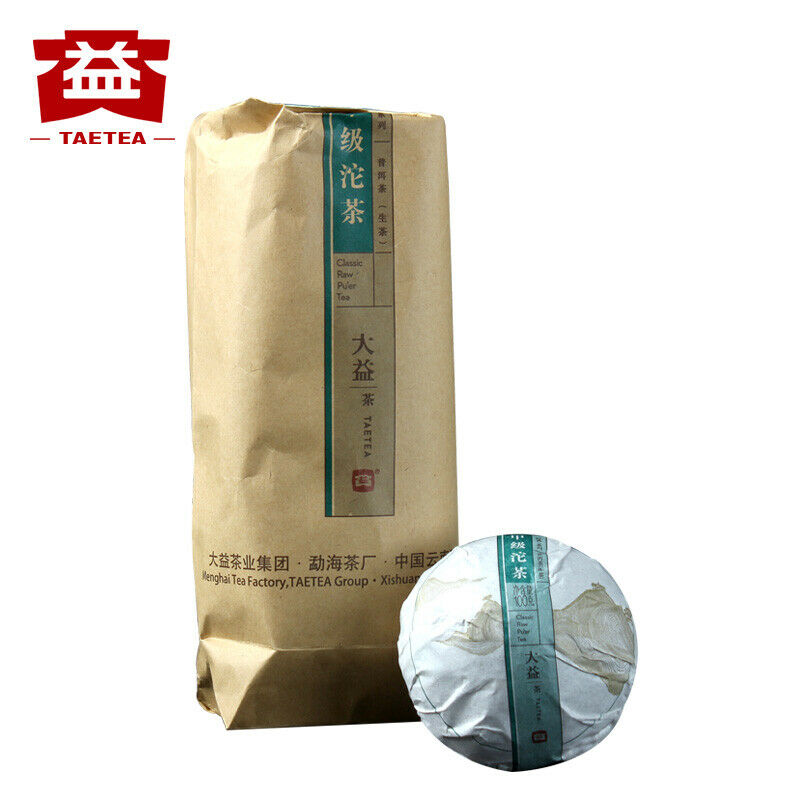 TAETEA-كيس شاي كلاسيكي من البولي يوريثان الخام ، 2017 مل ، JIA JI TUO ، CHINA CHA Dayi ، Pu-erh Sheng ، 500 جم