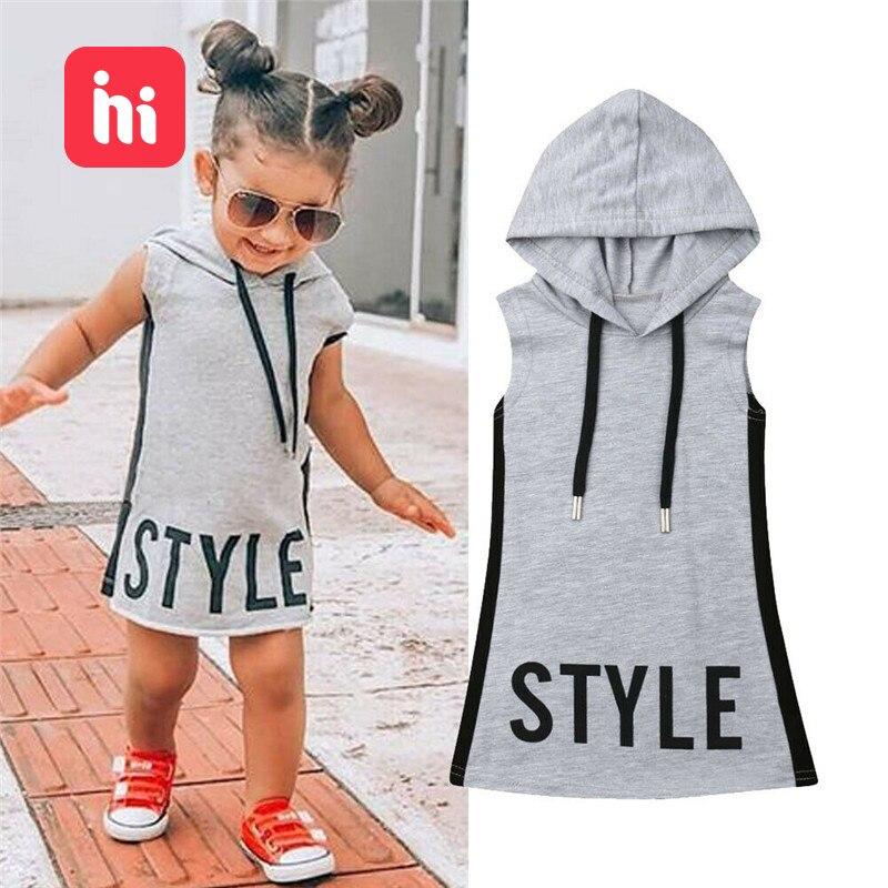 HIPAC, ropa de Pudcoco para niña bebé, vestido con capucha para chico s, vestidos de niñas, Túnica de verano para niños, chico vestido con letra, vestido informal de fiesta para el sol