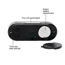 Thermomètre en plastique noir pour voiture   Accessoires dhorloge électronique de remplacement de voiture, thermomètre en plastique noir