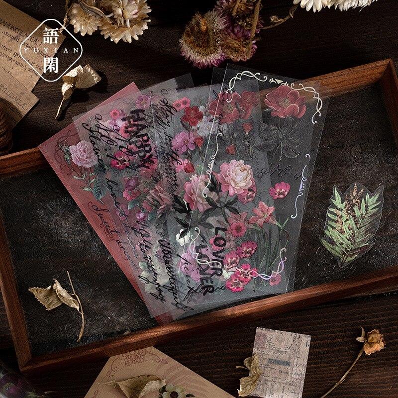 Наклейки с растениями и цветами для домашних животных, 13 листов/упаковка