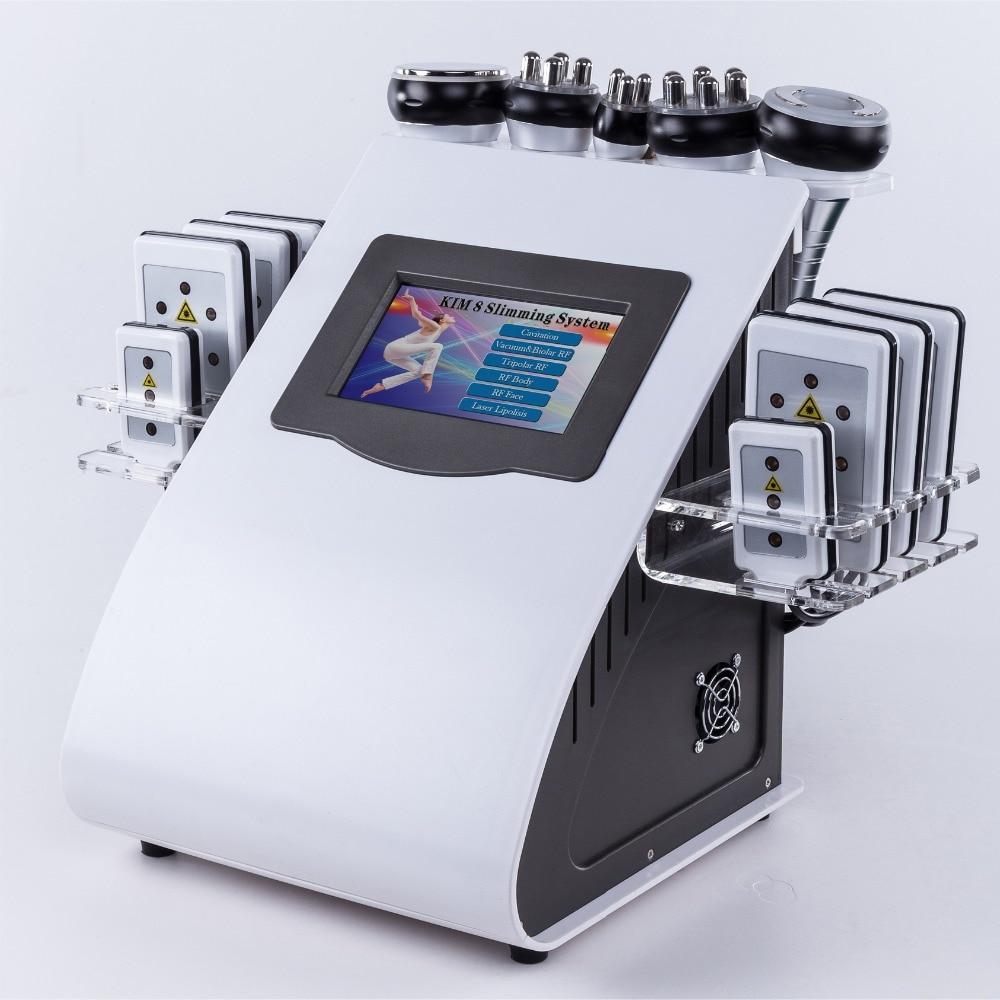 2021 رائجة البيع المدعومة المنتج كيم 8 نظام التخسيس Rf آلة فقدان الوزن التجويف