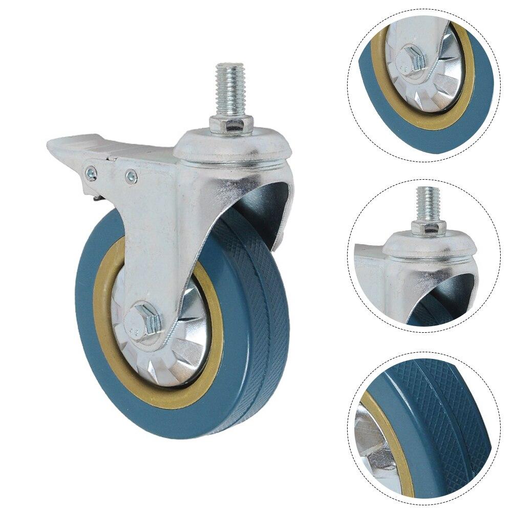 2 قطعة عجلة الكاستر دوارة عجلات عربة الأثاث عجلات العالمي عجلات