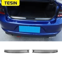 tesin interior for dodge charger car rear door tailgate inner guard plate protection cover for dodge charger 2015accessories