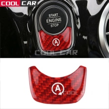 For Mercedes-benz A B Class Imported Real Carbon Fiber A Auto Start and Stop Button Car Modification