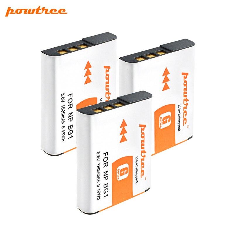POWTREE de la batería de 3,6 V 1800mah NP-BG1 NP BG1 NPBG1 recargable cámara Digital Batteria para Sony Cyber-shot DSC-H3 DSC-H7 DSC-H9