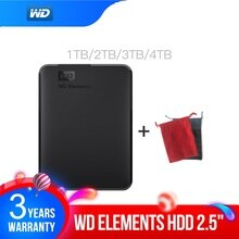 Western Digital WD Elements Portable festplatte 1TB 2TB 4TB Externe hdd 2,5 zoll USB 3,0 Hard stick Disk Original für PC laptop