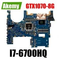 g752vs laptop motherboard for asus rog g752vsk g752vs original mainboard i7 6700hq gtx1070 8g