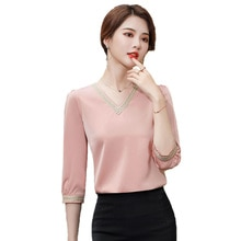 Three-quarter-length Sleeve Pink Shirt Female Design Non-mainstream 2021 Spring and Summer New Style