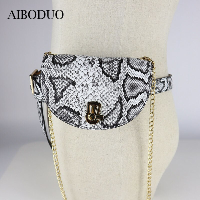 AIBODUO-حقيبة سرج Pu متعددة الأغراض للنساء ، جلد الثعبان ، جلد التمساح ، حقيبة يد متعددة الأغراض ، حزام قابل للفصل ، 2020