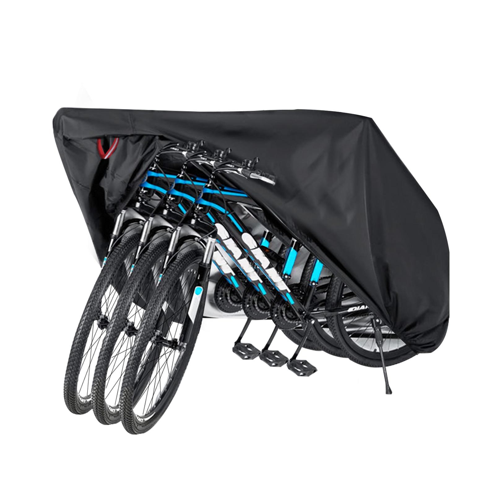 Водонепроницаемый велосипед чехол пыли ткани горный велосипед чехол от дождя в помещении для велосипеда, чехол для 3 велосипеды горные вело...