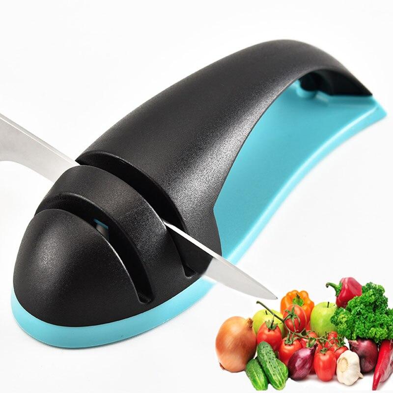 Apontador de faca de tungstênio cerâmico 2 estágio dropshipping apontador de faca rápido melhor afiador de facas de cozinha acessórios