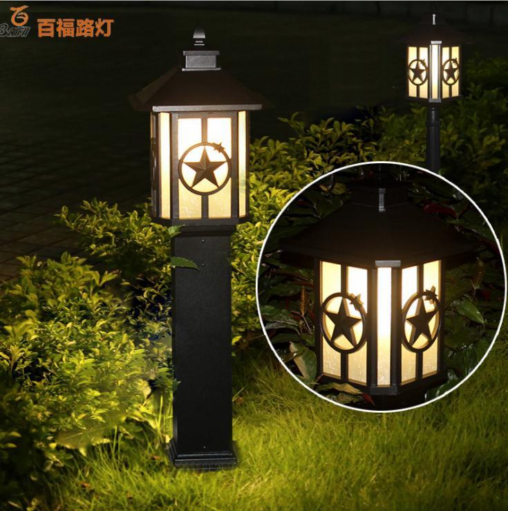 Lawn lamp outdoor modern community garden LED solar landscape garden lamp enlarge