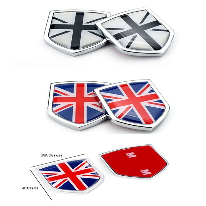 2Pcs Metal Car Rear Side Emblem Decal Car Body Sticker Auto Styling General For Toyota Corolla Rav4 Volkswagen Santana Jetta
