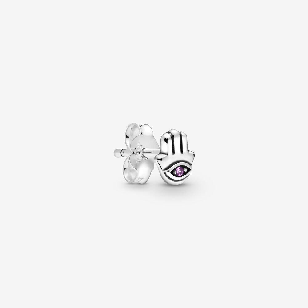 Original 925 sterling silver me series my moon asymmetric earrings with ladies crystal earrings gift DIY pandora jewelry couple