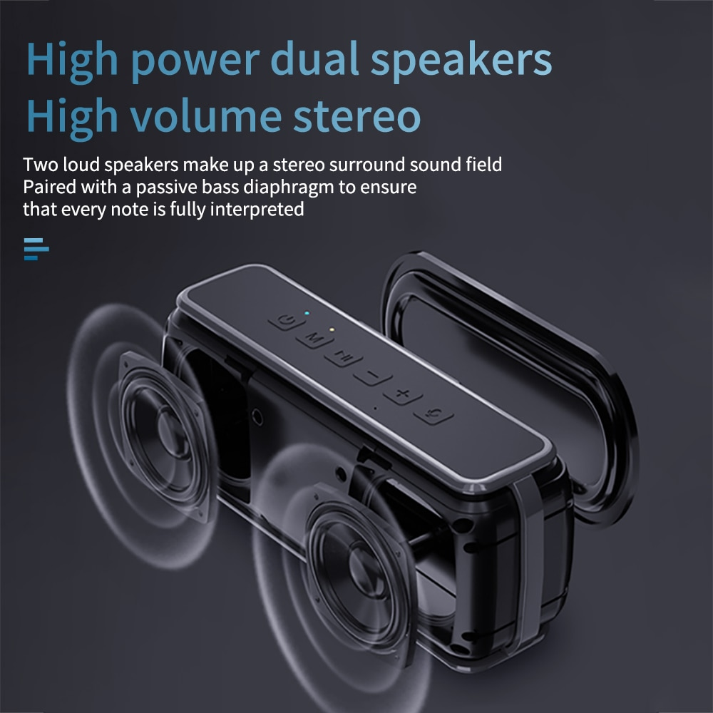 YOUXIU 60W Portable Bluetooth Speaker Outdoor Wireless Subwoofer IPX5 Waterproof Voice Assistant TWS with Microphone  Super Bass enlarge
