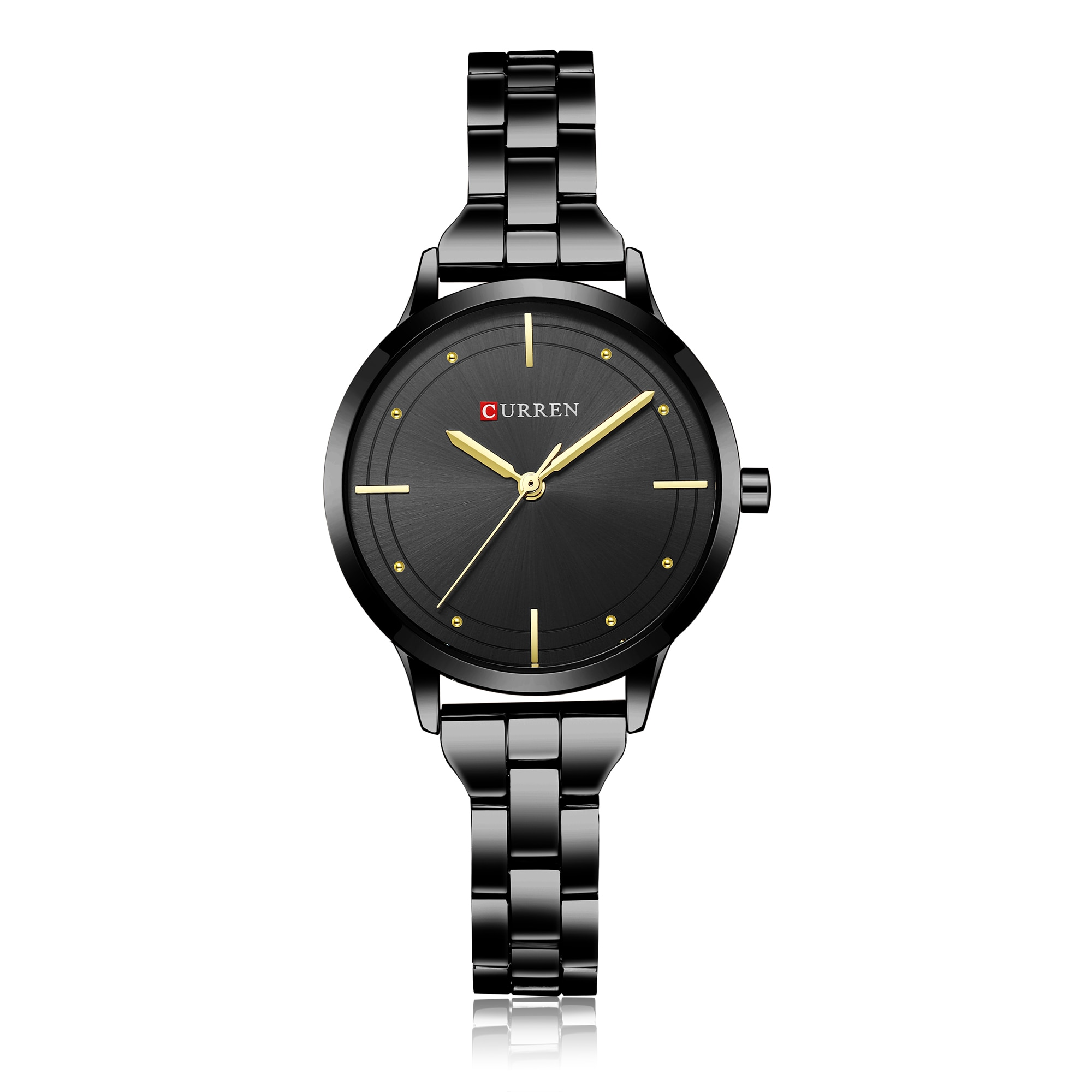CURREN Casual Female Watch New Arrival Hot Sale Women Watches Quartz Wristwatches Black Stainless Steel Waterproof Reloj Mujer enlarge
