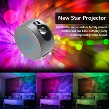 Starry Sky Galaxy LED Projector Light USB Party Night Light Atmospher For Kids Bedroom Beside Lamp Gift