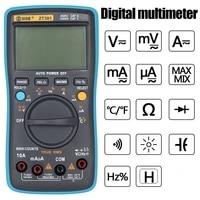 bside zt301 digital multimeter 8000 counts multifunction acdc voltage temperature capacitance tester portable voltage meter