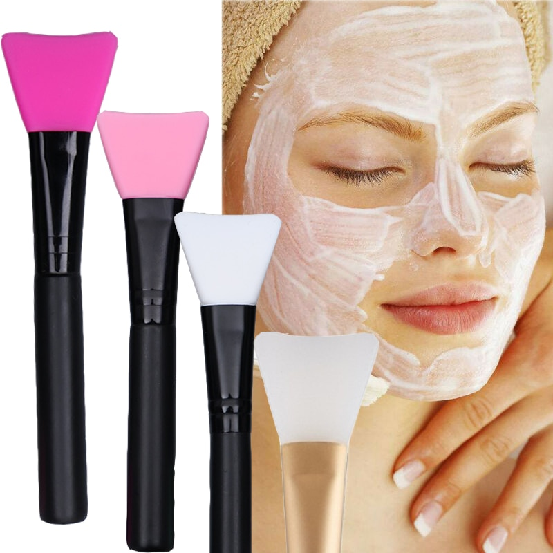 1pc silicone face mask brush DIY mask mud blending brush tool 5 colors soft female skin face care to