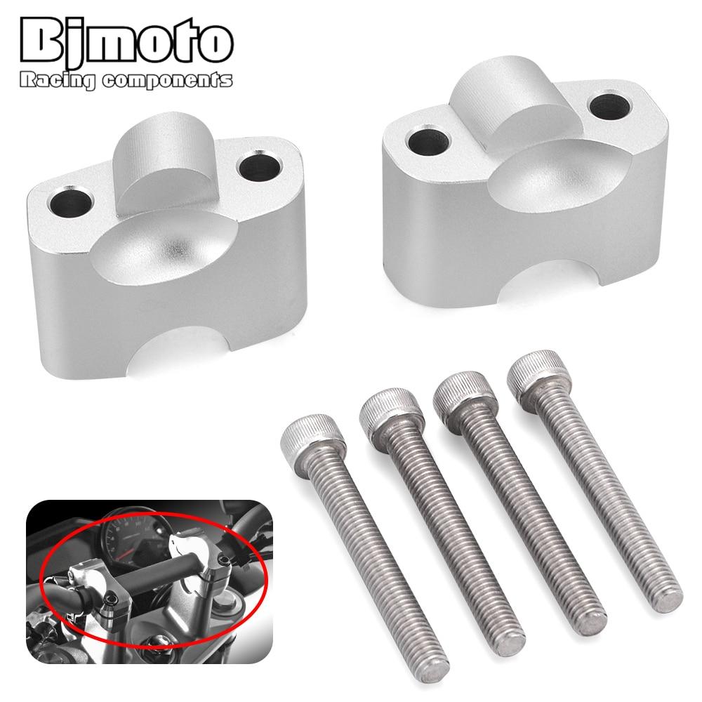 Elevadores de manillar de aleación de aluminio para motocicleta DUCATI 696 796 795 1100 adaptadores de altura vertical elevador de manillar de 38mm/1,5 pulgadas