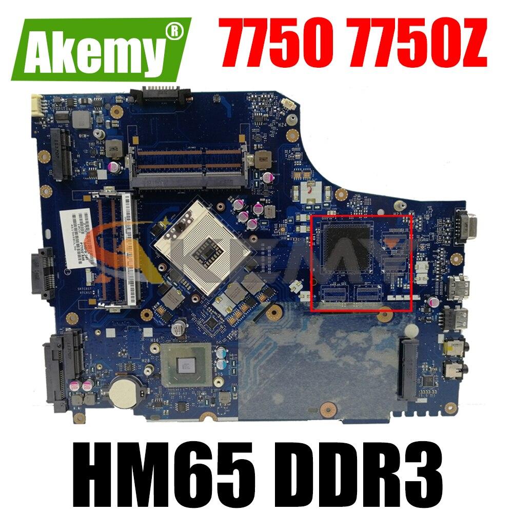 AKEMY P7YE0 LA-6911P اللوحة الأم للكمبيوتر المحمول لشركة أيسر أسباير 7750 7750Z HM65 DDR3 MBRN802001 MB.RN802.001 اللوحة الرئيسية