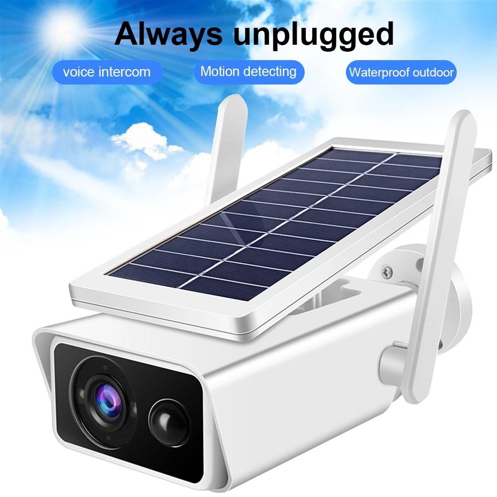 1080P Solar Camera Battery Powered WiFi IP Camera Surveillance Security Camera Weatherproof IP66 PIR Alarm Night Vision ICSEE
