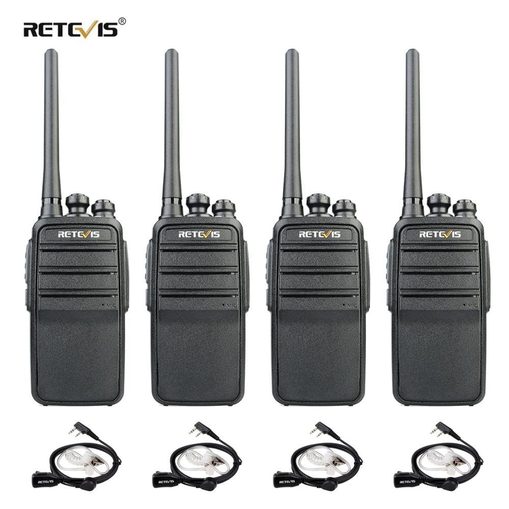 Retevis RT53 DMR Digital Walkie Talkie 4 Uds 2W UHF DMR Radio de dos vías de Radio Comunicador transceptor manos libres Walkie Talkies jamón