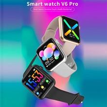 V6 Pro Smart Watch 1.44in Pedometer Heart Rate Sleep Fitness Sport Smartwatch Women Men Digital Wris