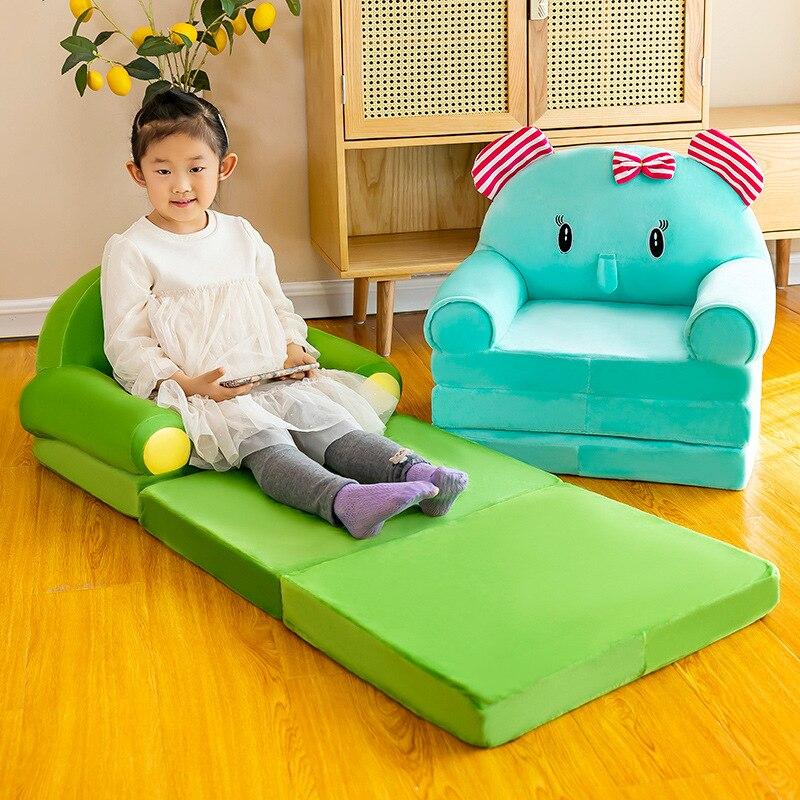 ثلاثة طبقة للطي أريكة سرير طفل قيلولة موضة الكرتون تاج مقعد لطيف الطفل البراز رياض الأطفال وسادة أريكة استرخاء كرسي أطفال