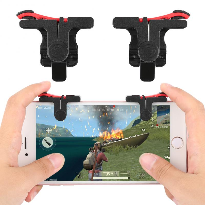 1 Pair Of Game Triggers Left+Right PUBG Mobile Trigger Gamepad Gaming Shooter Controller For Android