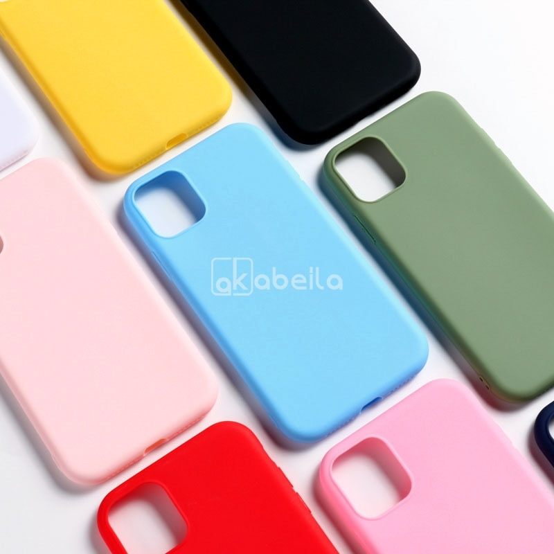 Funda de silicona para Iphone 11 Pro, carcasa suave de TPU mate para Iphone 12 7 8 XR X XS Max SE 2020 6 6s Plus 5, funda de 5S Etui