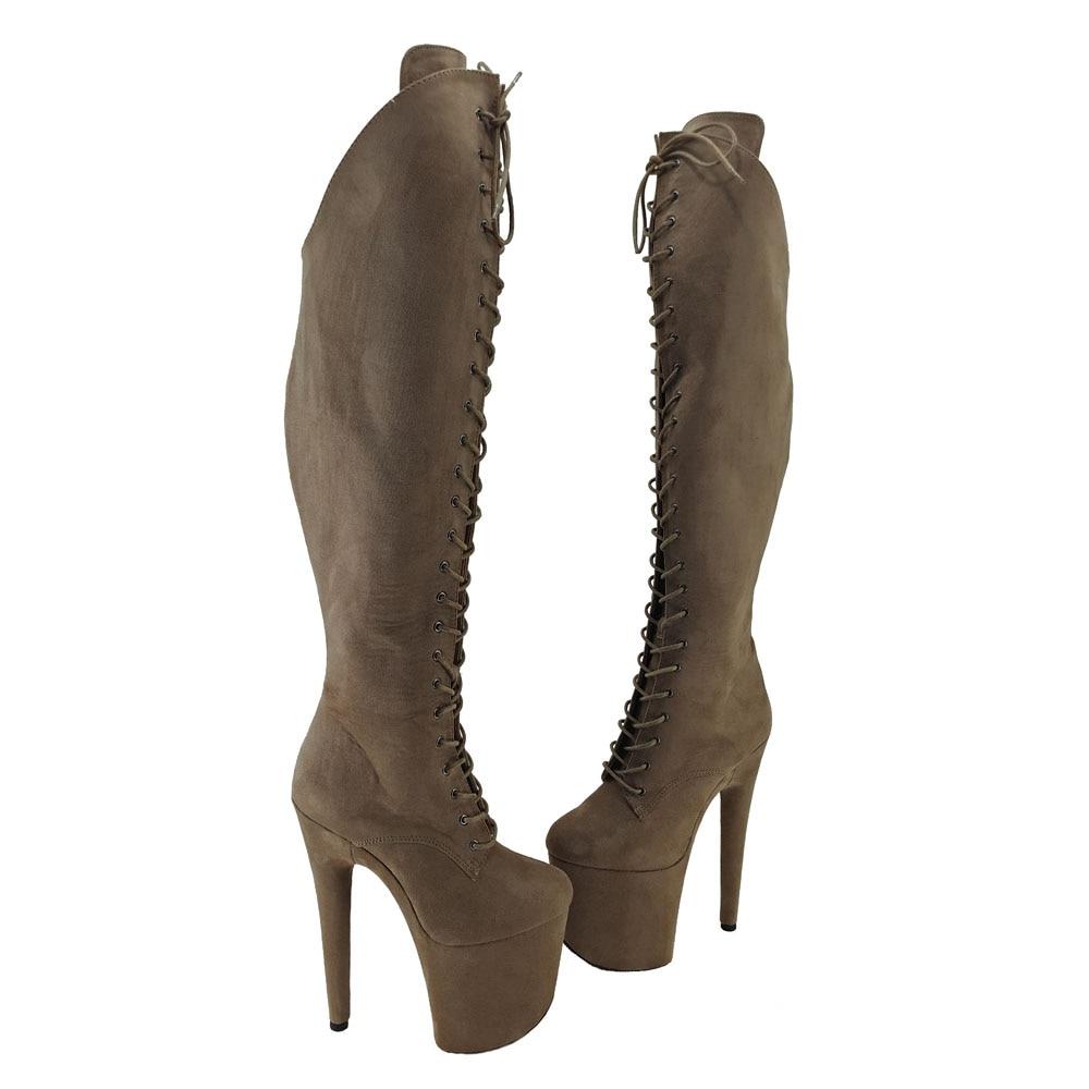 Leecabe 20CM/8Inch Women's Platform disco party High Heels Shoes Pole Dance boot