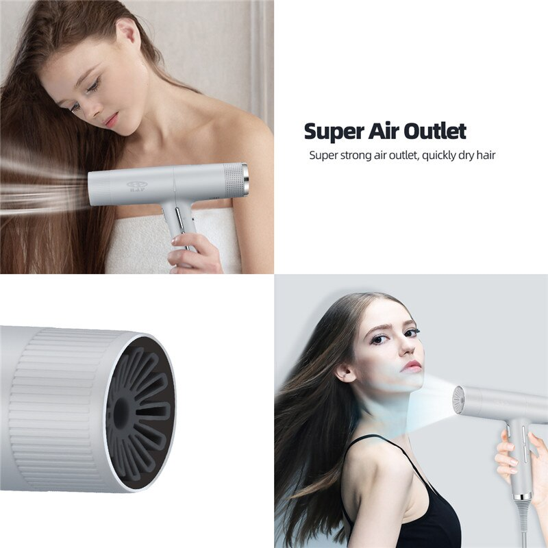 2000W Hair Dryer Anion Air Blower Hot Cold Wind 3 Nozzles Ultra-Lightweight Blowing Machine Professional Ionic Salon Blow Dryer enlarge