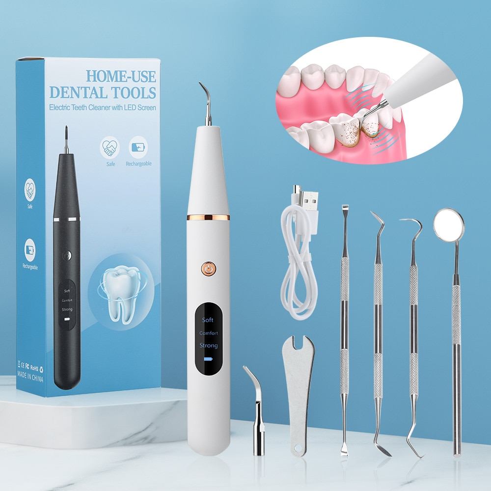 Ultrasonic Dental Cleaner Dental Calculus Scaler Electric Sonic Oral Teeth Tartar Remover Plaque Stains Cleaner Teeth Whitening ultrasonic calculus remover electric portable dental scaler ultrasonic tooth cleaner tartar plaque teeth whitening scaling tools