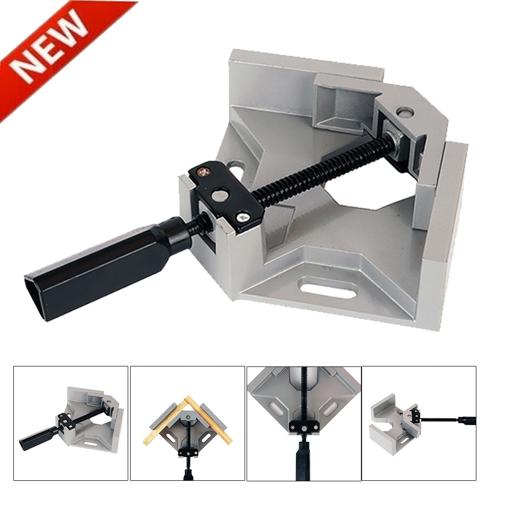 Herramientas de mejora del hogar abrazadera de esquina 90 ° abrazadera de ángulo recto para carpintería vicio accesorio de soldadura de Metal de madera abrazadera de carpintería 2019