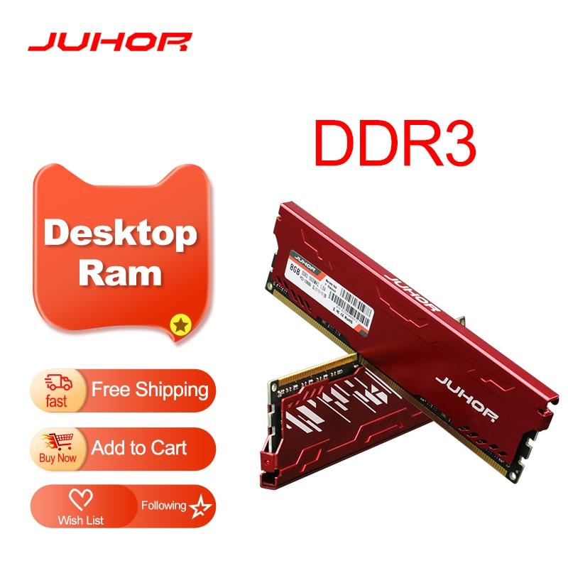 JUHOR Memoria Ram DDR3 8GB 4GB 1600MHz 1866MHz Desktop Memory New Dimm 1333MHZ RAMs