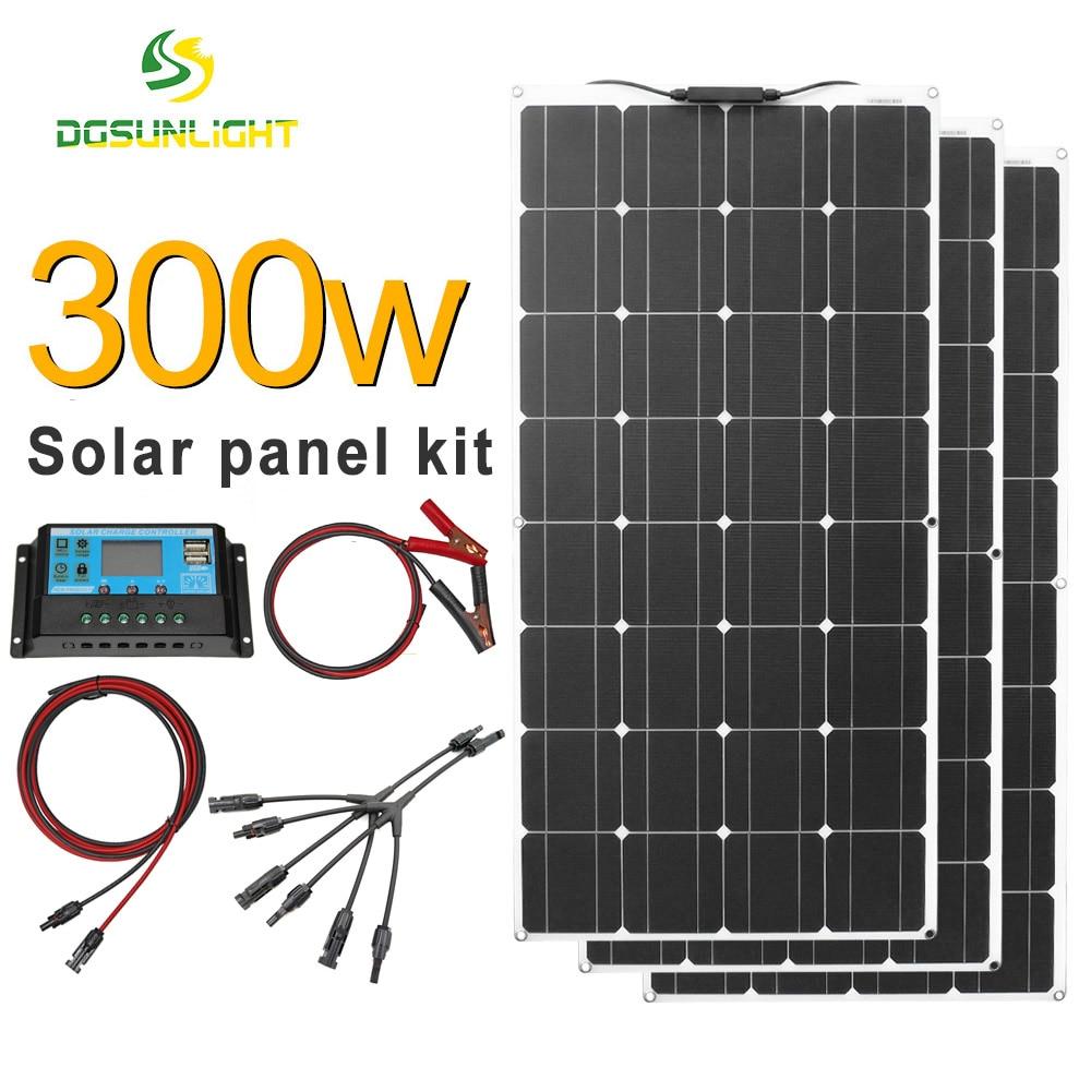 Panel solar monocristalino flexible con regulador de carga