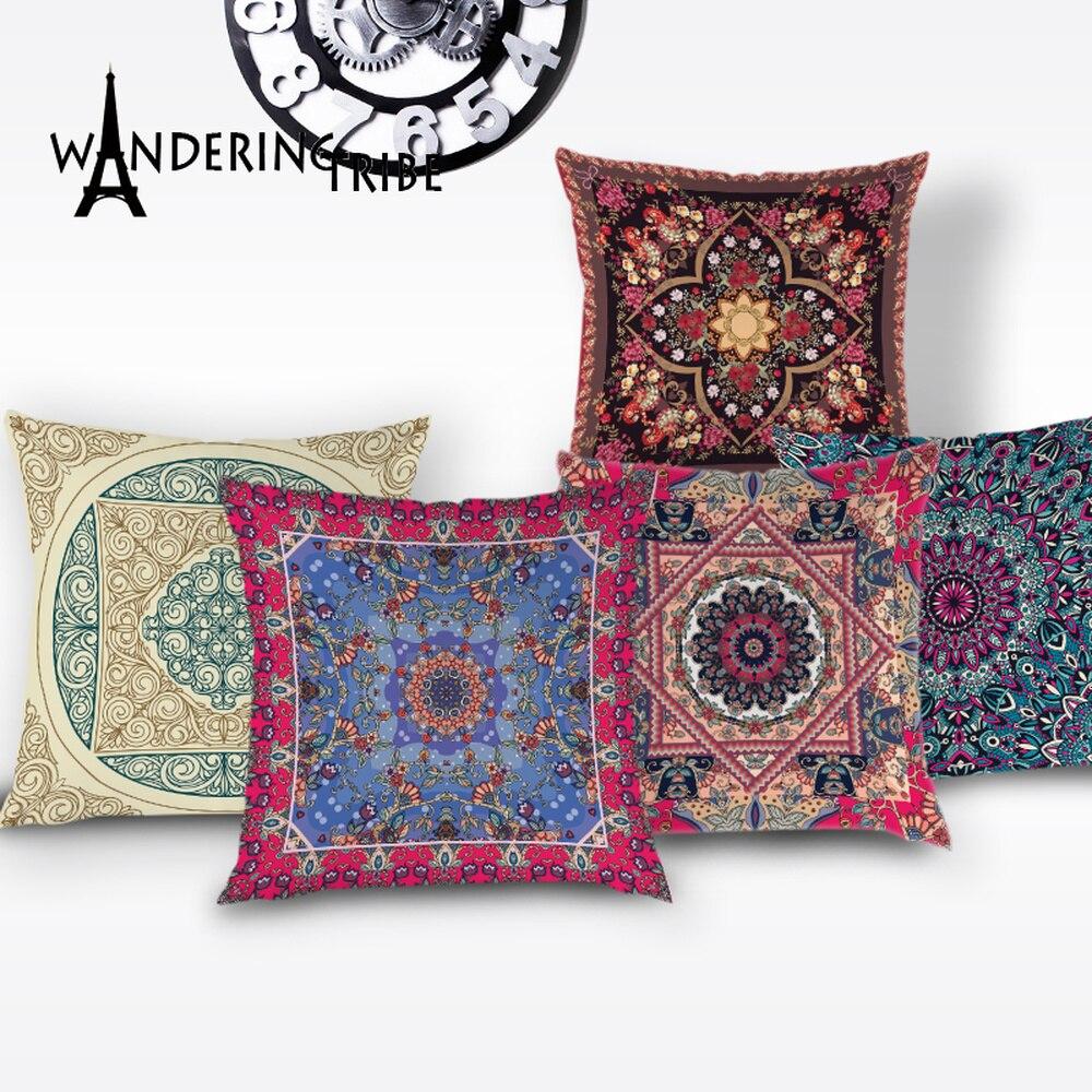 Mandala Fronha Geométrica Marrocos Da Listra Do Vintage Padrão de Capa de Almofada Fronhas para Travesseiros Almofada de Alta Qualidade Cobre