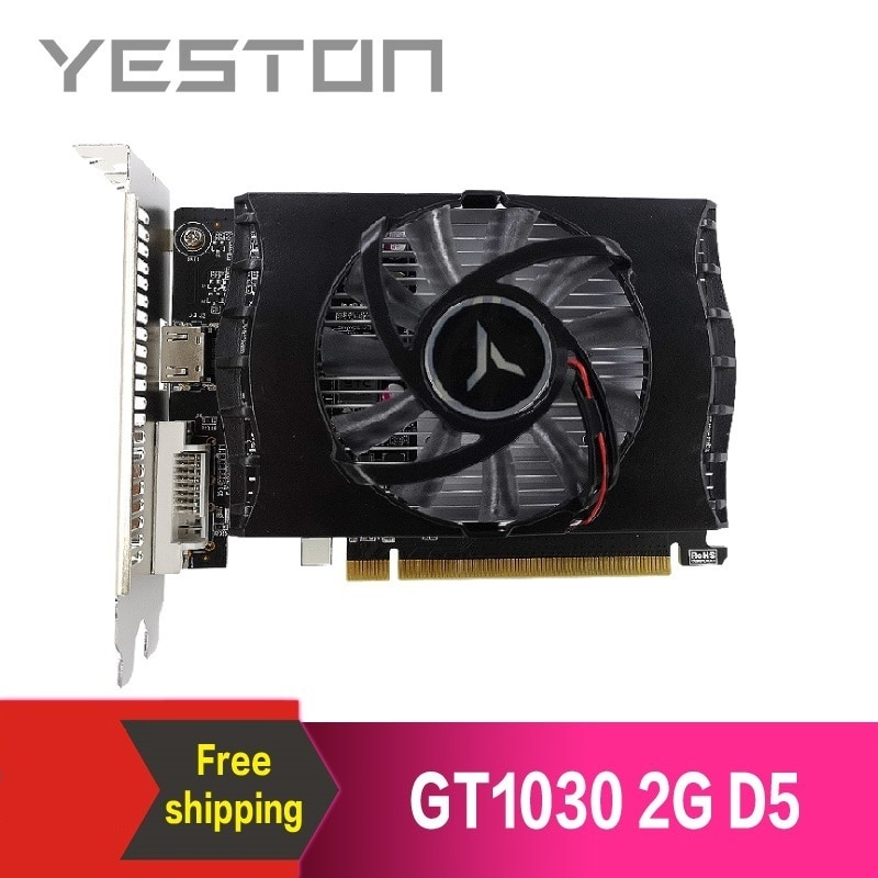 Yeston GeForce GT 1030 2GB GDDR5 Graphics cards Nvidia pci express 3.0 Desktop computer PC video gam
